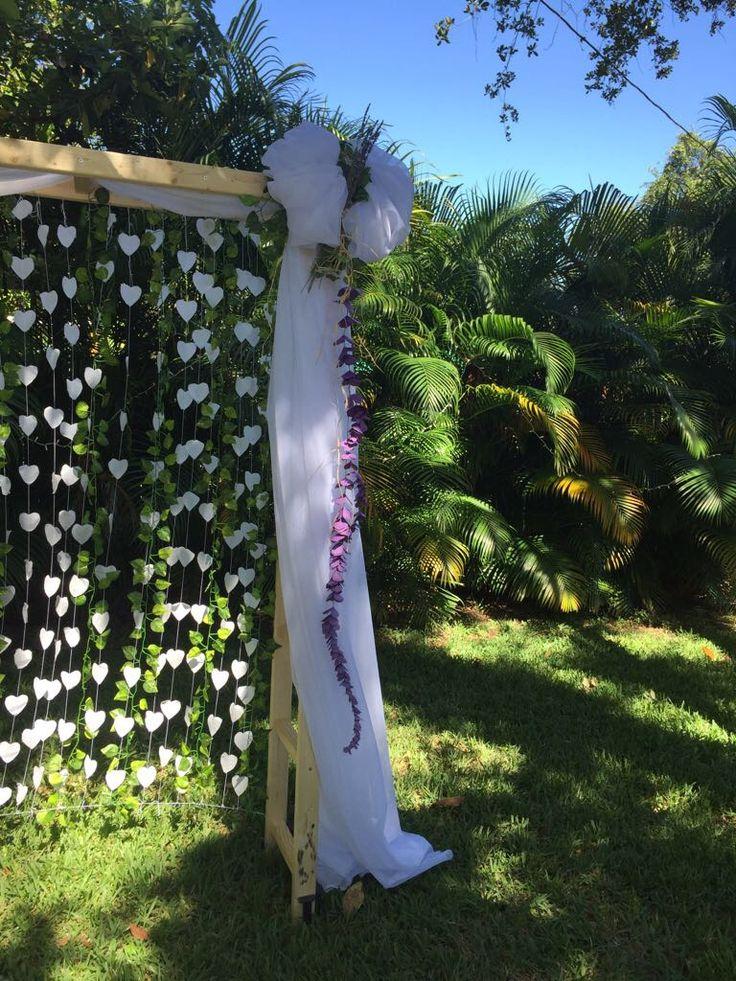 Wooden Ladder Wedding Arch. Garden Wedding.