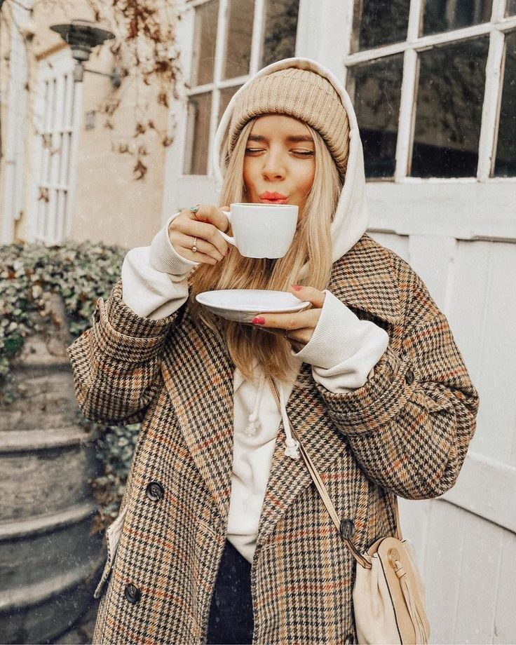 Great UO Camel Checked Double Breasted Wool Coat | Urban Outfitters | Women's | Coats …