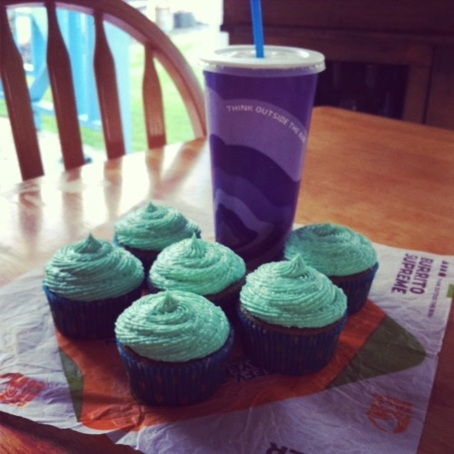 Baja Blast Cupcakes! OMG.