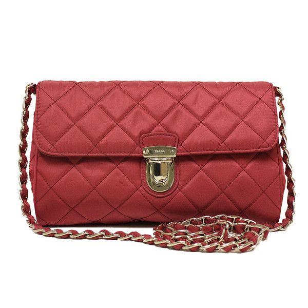 b589e1e092d7a7 Check this out: Prada Ibisco Pink Tessuto Impuntu Nylon and Leather Pattina  Chain Crossbody Bag BP0584 | Prada handbags | Bags, Chain crossbody bag, ...