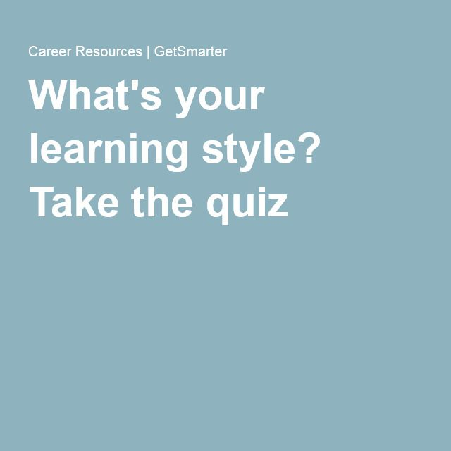 Take The Test Mr Mrs Quiz Questions: What's Your Learning Style? Take The Quiz