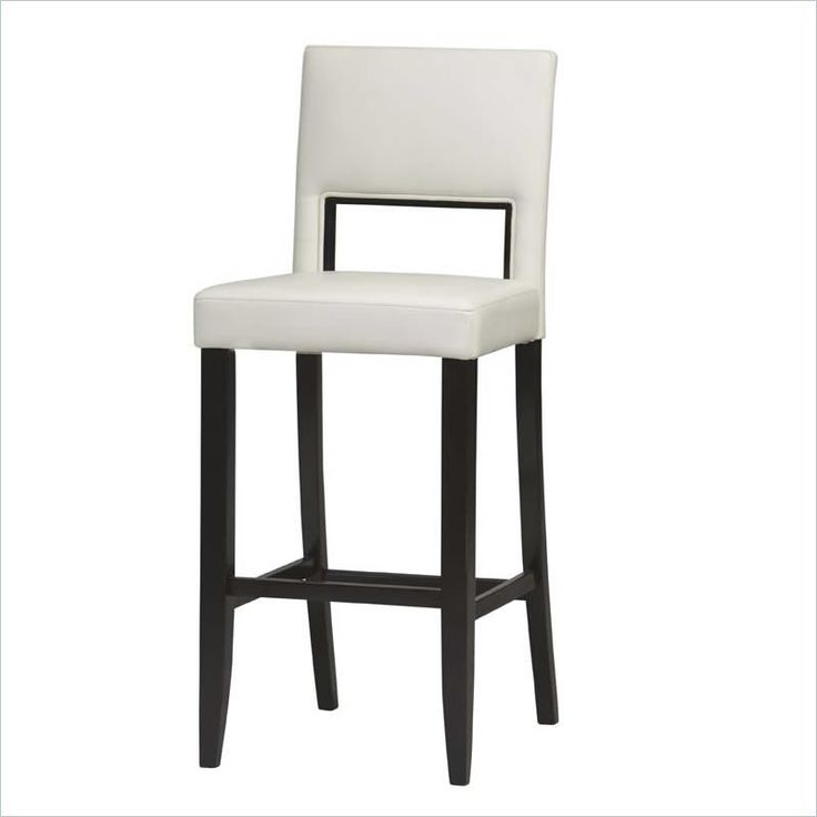 "Lowest price online on all Linon Vega 30"" High Bar Stool in White - 14054WHT-01-KD-U"