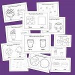 Recursos para el aula: Fichas de conceptos contrarios.; Lleno y vacío