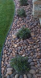 Landscaping Rocks Against the House - Bing images