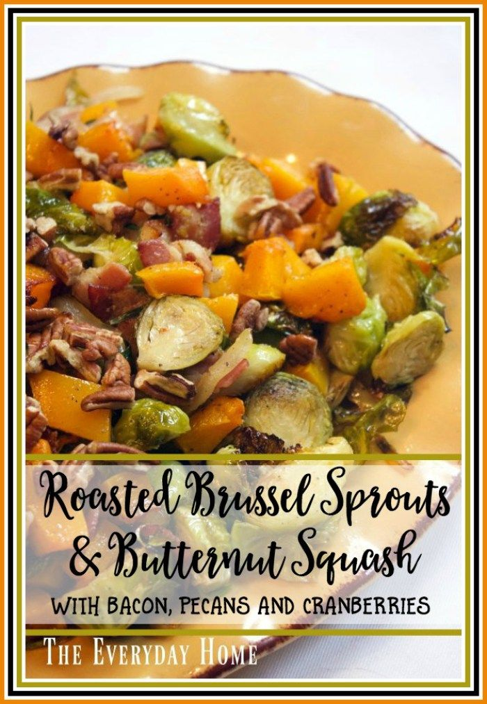 Roasted Brussel Sprouts Amp Butternut Squash With Crispy