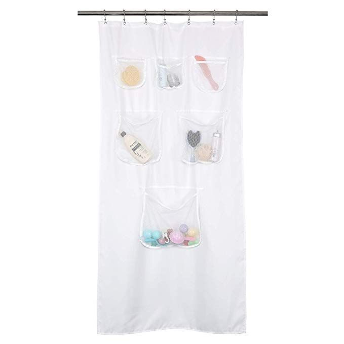 Amazon Com Mrs Awesome Fabric Stall Shower Curtain Or Liner With