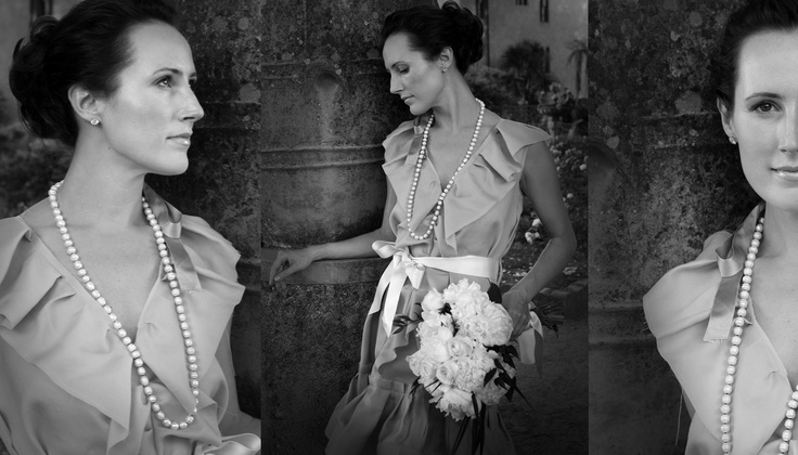 Bride in Hermes Weding Dress - Villa Cimbrone - Ravello