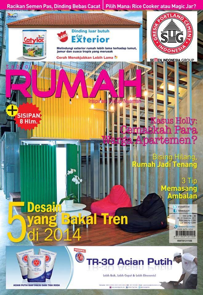 Cover Tabloid RUMAH 278, 5 desain yang bakal tren di 2014