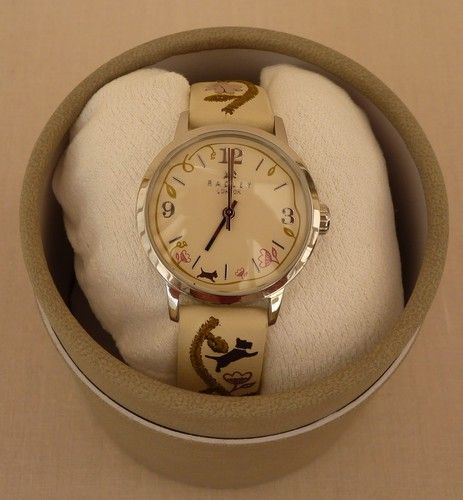 Radley Cream Leather Strap Watch & Presentation Box & Guarantee - RRP £75 - NEW | eBay