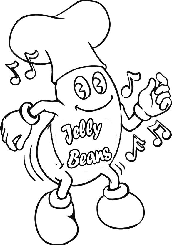 jelly belly coloring pages