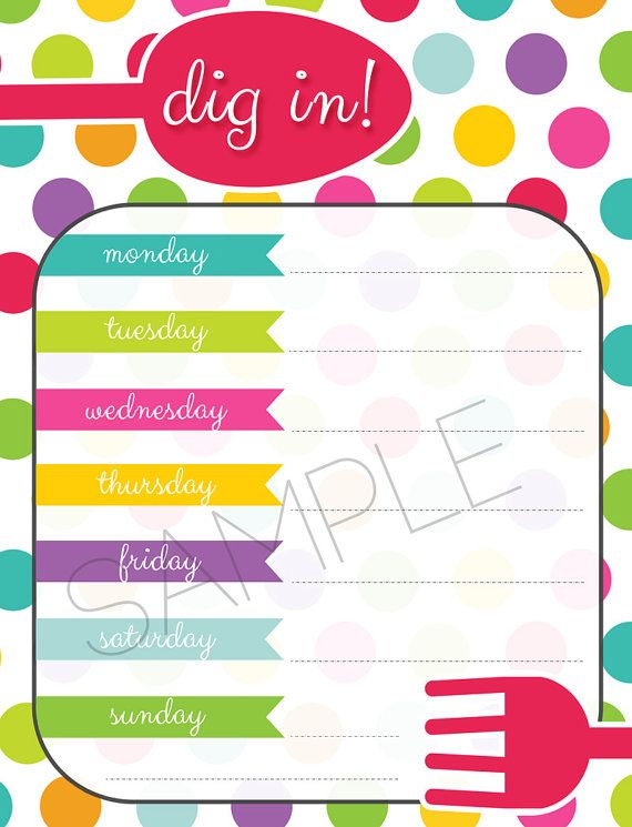 Weekly Meal Plan PDF Insert for Erin Condren Life Planner  _ _ _ _ _ _ _ _ _ _ _ _ _ _ _ _ _ _ _ _ _ _ _ _ _ _ _ _ _ _ _ _ _ _ _ _ _ _ _ _ _