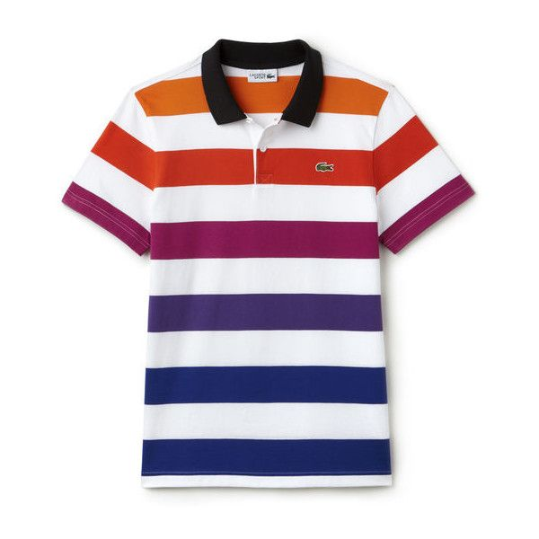 Lacoste Colored Stripes Kids Multicolor Polo T-Shirt Colored Stripes Multicolor Polo T-Shirt