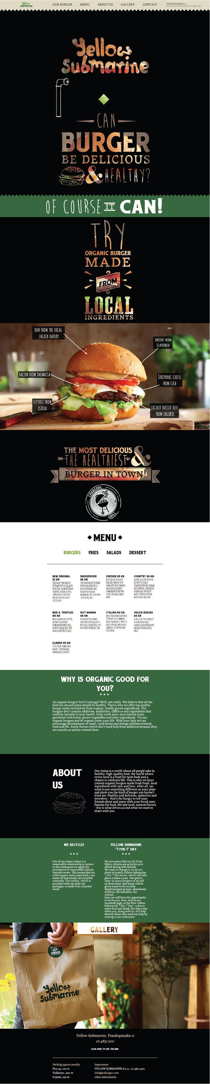 Yellow Submarine. A healthy burger.
