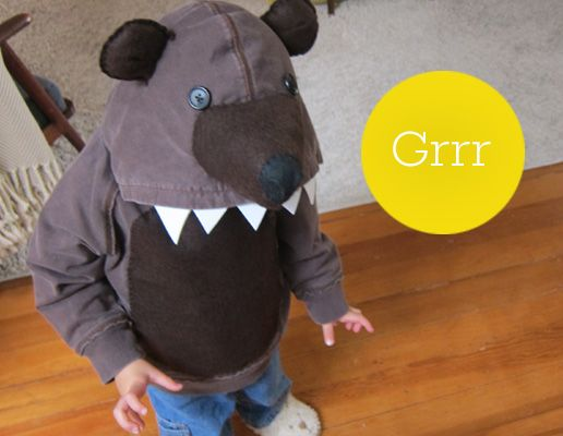 RockPaperScissor Graphics | bear costume - transforming a hoodie into a costume with felt