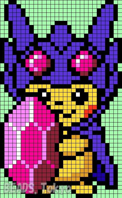 42 best hama pokemon perler beads images on pinterest hama beads pokemon perler beads and - Pokemon famille pikachu ...