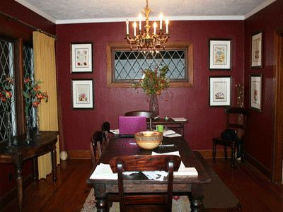 17 best images about burgundy and grey on pinterest grey walls brass lamp and dining room paint - Red dining room color ideas ...