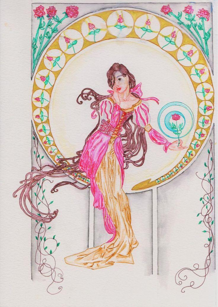 Belle and the Rose by fireburner543.deviantart.com on @deviantART