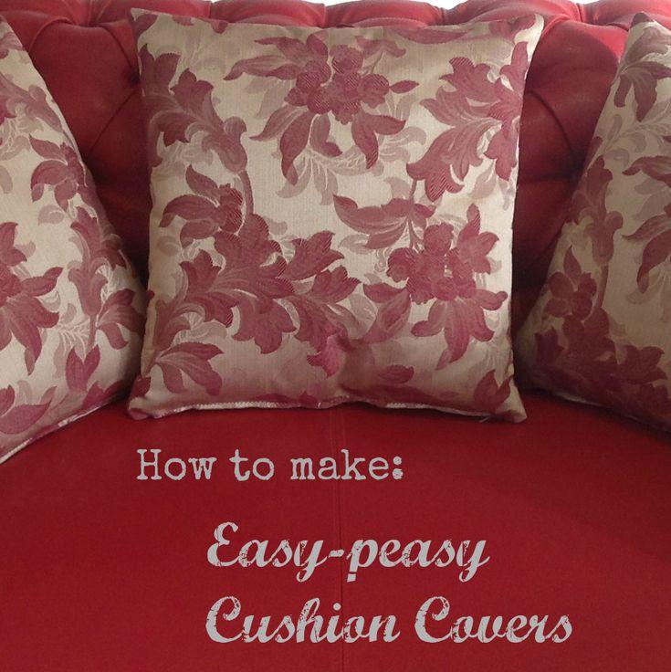 DIY cushion cover tutorial