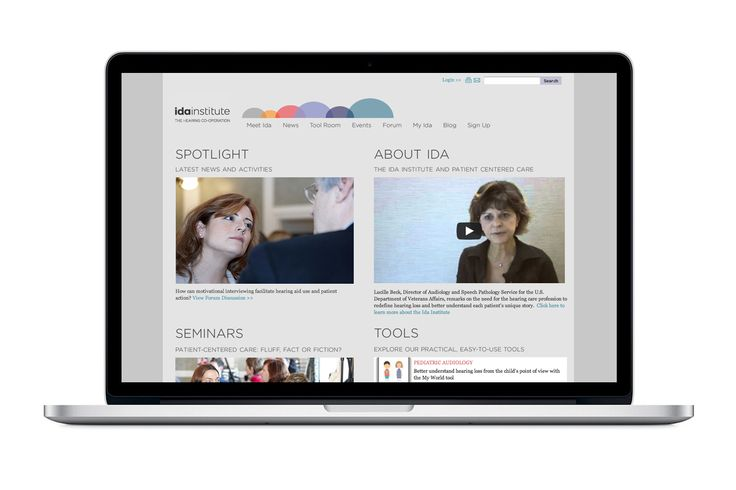 Kontrapunkt - Ida Institute. Hear here! Strategy, design and an online community for audiologists. Today 75% of all visitors stick around to learn more.