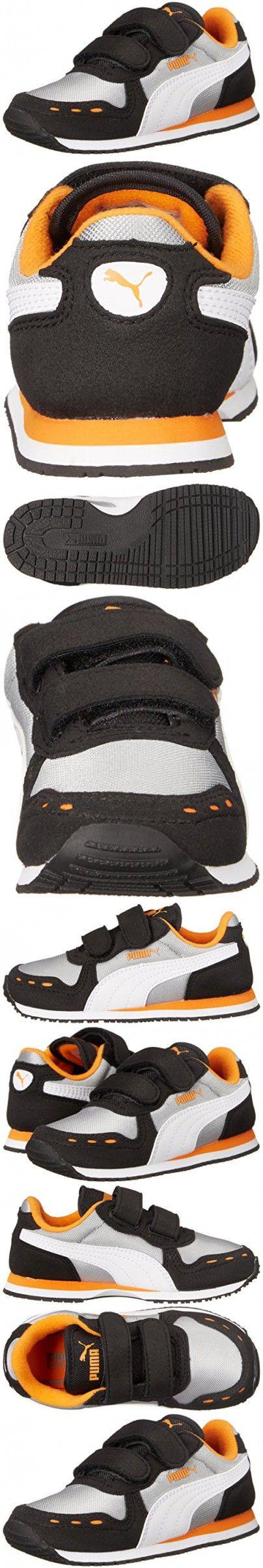 PUMA Cabana Racer Mesh V Kids Sneaker (Toddler/Little Kid/Big Kid) , Limestone Gray/White, 10 M US Toddler