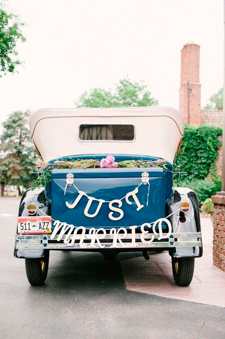 letras coche boda