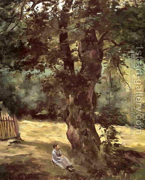 Gustave Caillebotte:Woman Seated Under A Tree