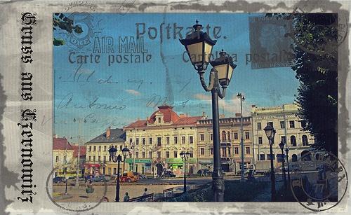 Greetings from Chernivtsi XIII (Postcard Imitated)