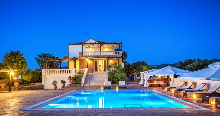 "Discover Villa ""Athena"", Crete, Greece ! You can rent it ! #luxury #villa #rent #holidays #greece #vacances #grece #alouer #aroomwithaview #sea #bedroom #decoration #swimmingpool #beautiful #sunset #luxuryvilla"