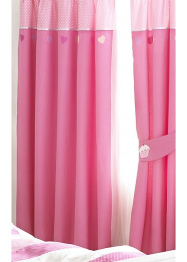 Girls Lined Curtains   Cupcake