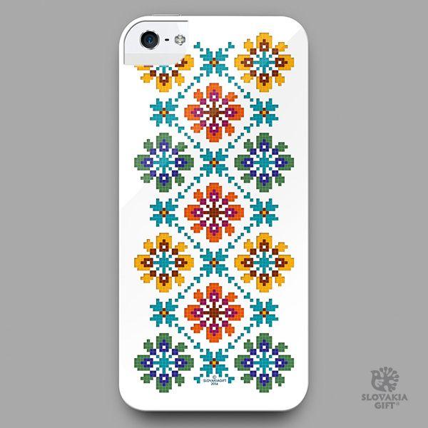 smartphone cover - design inspired by folk embroidery pattern from Bogliarka, Slovakia