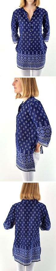 This Kurta is such gorgeous quality and a wonderful fit, especially for our plus size beauties! We've made a one time run of this gorgeous INDIGO BLUE print and we're in love! Shop this style > Online or visit us in Noosa! <3