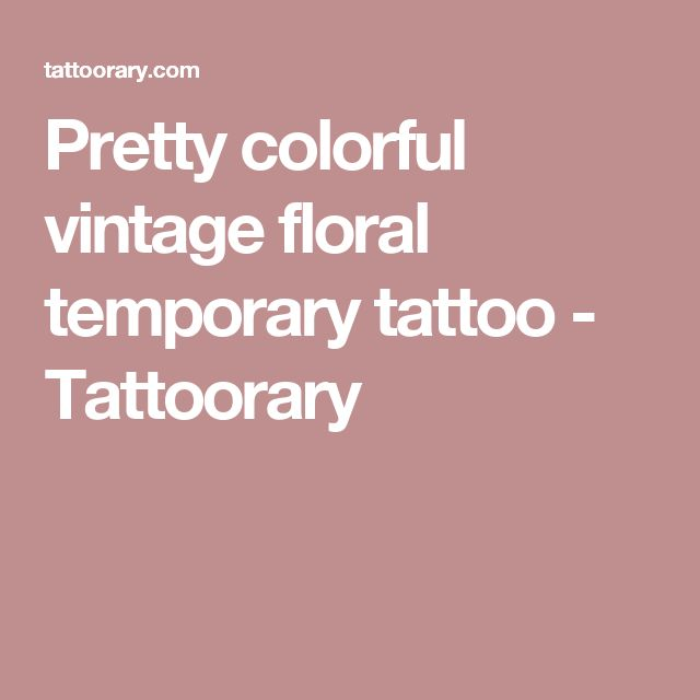 Pretty colorful vintage floral temporary tattoo - Tattoorary