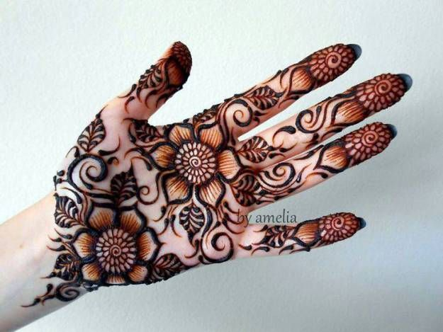 Most popular Flower Mehandi Design by Amelia Artist | Mehndi Designs / Arabic Mehndi Design