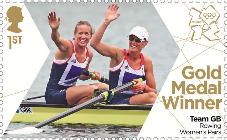 Team GB Gold Medal Winners 1st Stamp (2012) Rowing Women's Pairs - Team GB Gold Medal Winners