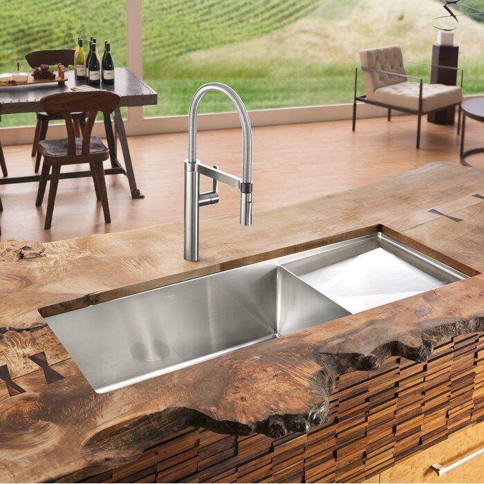 Blanco Precision 38 L X 18 W Single Bowl Kitchen Sink Single Bowl Kitchen Sink Outdoor Kitchen Modern Kitchen