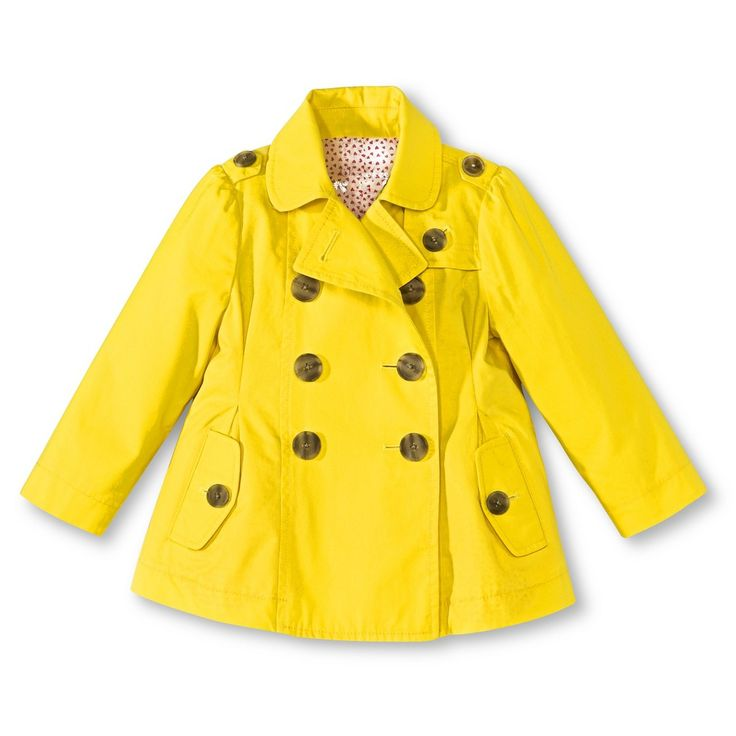 Perfect spring rain jacket from Target - Infant Toddler Girls Trench Coat - Yellow