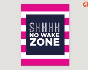 pink and navy nautical sign | ... - No Wake Zone - nautical nursery theme, navy pink nursery decor