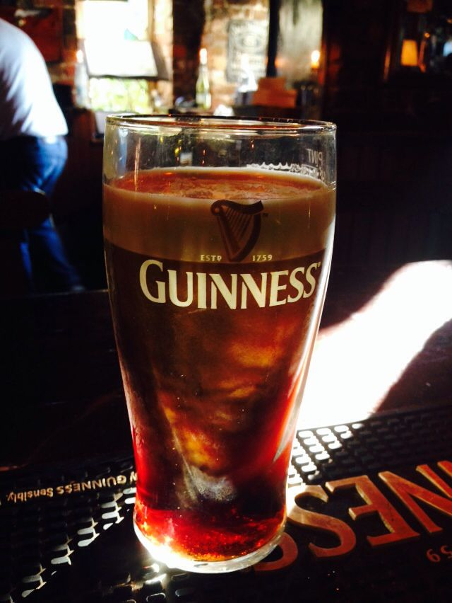 What happens when extreme sunshine hits a pint of Guinness