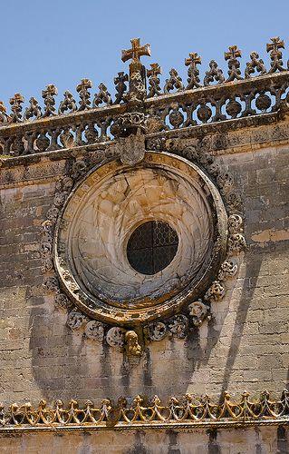 Um dos detalhes do Convento da Ordem de Cristo. Tomar - Portugal
