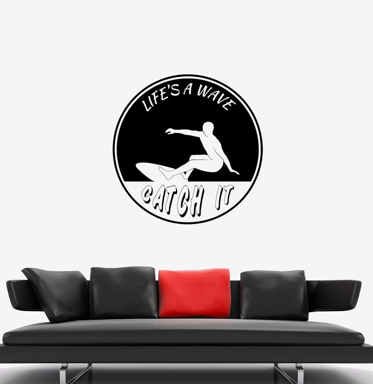 Wall Decal Sport Surfing Wave Extreme Life Style Surfer Decor Vinyl Unique Gift (ed539)