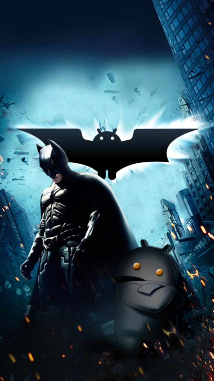 Batman and Android Mobile Wallpaper 3692 Mobile