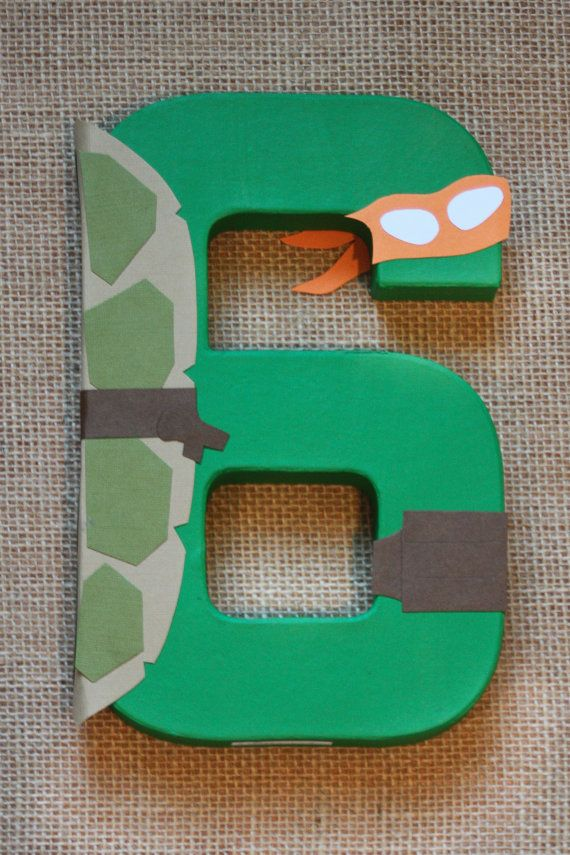 Teenage Mutant Ninja Turtle Party Decoration - TMNT Birthday Number or Letter