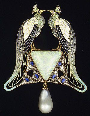 Broche de pavos reales de Lalique