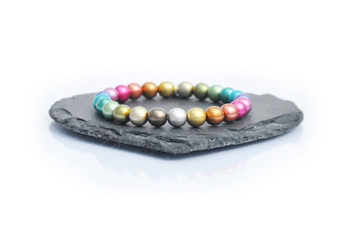 A colourful bracelet by Carrie Elspeth