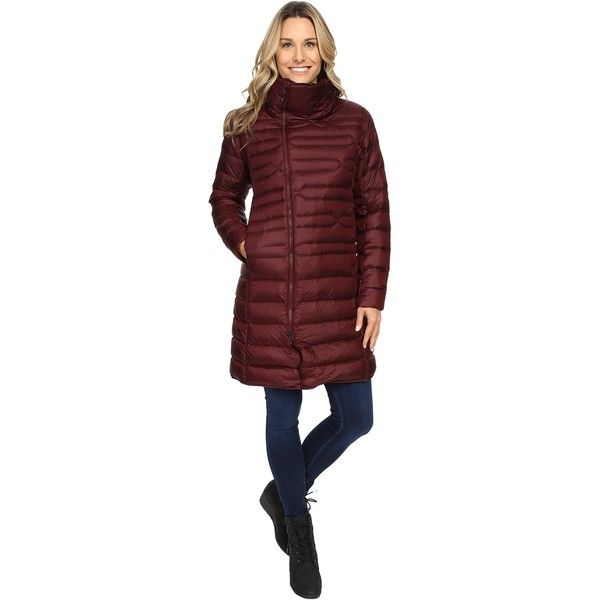The North Face Far Northern Parka (Deep Garnet Red (Prior Season)) ($125) ❤ liked on Polyvore featuring outerwear, coats, red, oversized collar coat, the north face parka, the north face® coats, insulated parka and red parkas