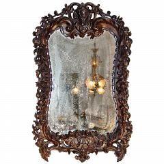 Испанский 19-го века в стиле барокко St. Walnut Зеркало