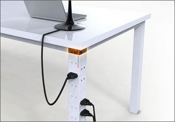 table leg with sockets