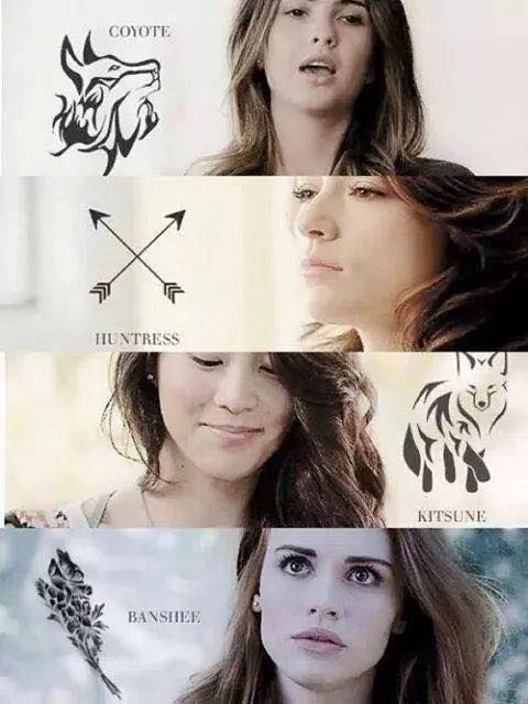 Teen Wolf • Malia Tate (Hale) - Coyote • Alison Argent - Huntress • Kira Yukimura - Kitsune • Lydia Martin - Banshee