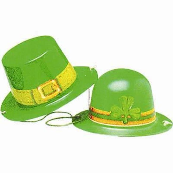 St Patrick's Day Irish Party Supplies - Mini Top Hat OR Bowler Hat with Elastic