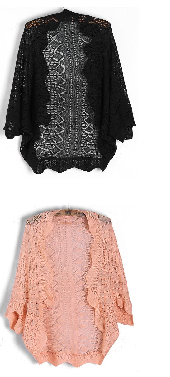 Women Half Batwing Sleeve Knitted Cardigan 4 colours available,one size s/m Free shipping worldwide only 15.99 usd